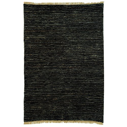 (Safavieh Organica Collection ORG215A Hand-Knotted Charcoal Wool Area Rug (2' x 3'))