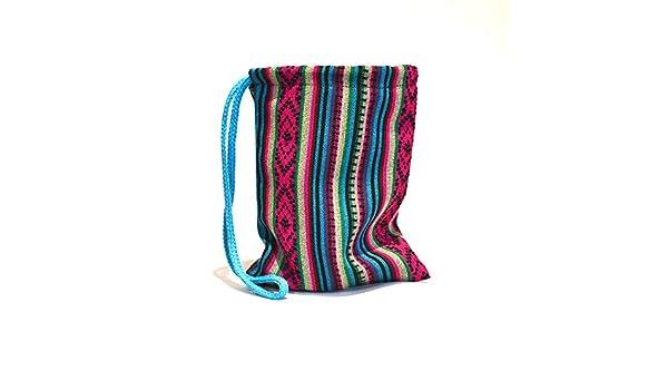 Bolsa tela aguayo artesanal etnico boho hecho a mano andino originario Argentina: Amazon.es: Zapatos y complementos
