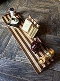 41'' striped wood bathtub tray