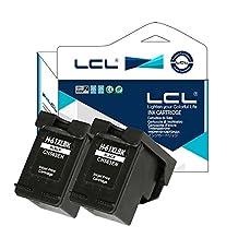 LCL Remanufactured for HP 61XL CH563WN (2-Pack Black) Ink Cartridge for HP Deskjet D1000/1050/2000/2050/2510/3000/3050/3052/3054/3540/1010/1510/2540 Envy4500/5530 Officeiet 4630