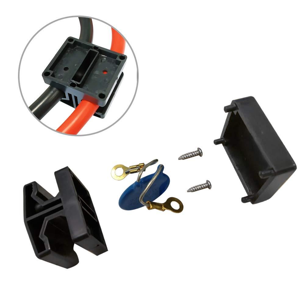 AUFUN Starthilfekabel 2x4m Starterkabel Set /Ü berbr/ü ckungskabel KFZ LKW PKW Batterie f/ü r 12 Volt//24 Volt mit /Ü berspannungsschutz
