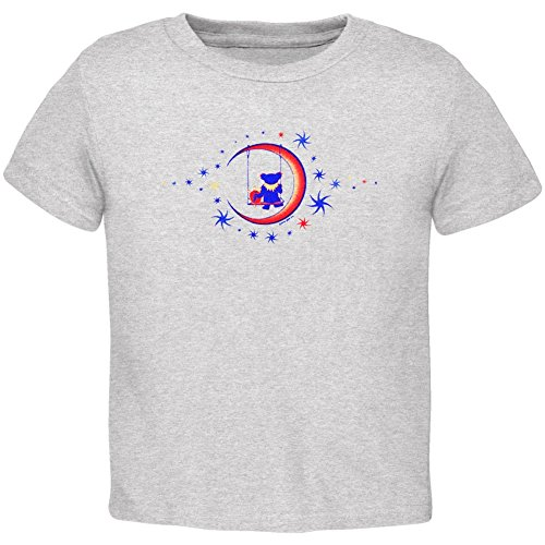 Old Glory Grateful Dead - Unisex-baby Moon Swing Toddler T-shirt 2t Grey ()