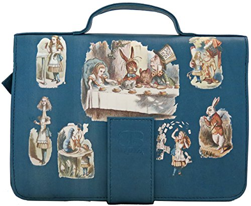Bagabook Executive Alice in Wonderland Blue Book & Journal Cover Bible Cover w Hand Strap (Alice In Wonderland Shop)
