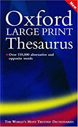 Oxford Large Print Thesaurus