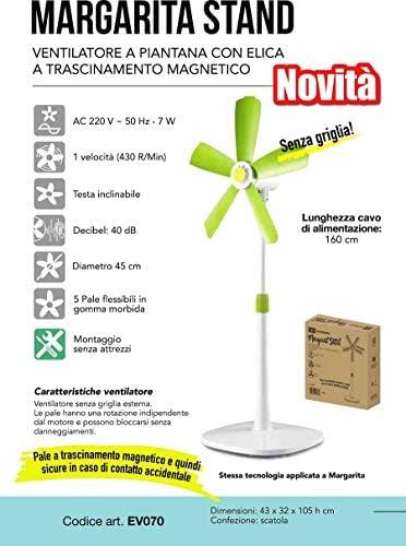 CFG Ventilator A Piantana Ev070 Margarita Standflügel flexibel ohne Gitter