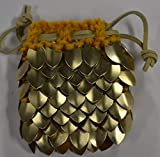 Dice Bag in Knitted Scale Armor - Dragon Hoard