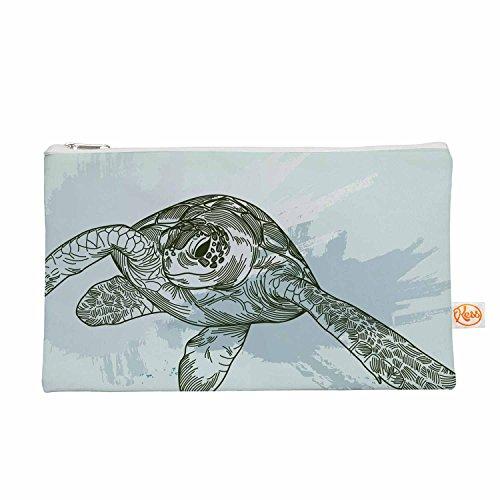 Kess eigene 12,5x 21,6cm Sam Posnick Sea Turtles Alles-Tasche, Grün/Blau