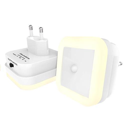 Luz nocturna LED con detector de movimiento - Juego de 2 ...