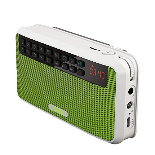 Rolton E500 Portable Stereo Bluetooth Speakers FM Radio Clear Bass Dual Track Speaker TF Card USB Music Player (Green)