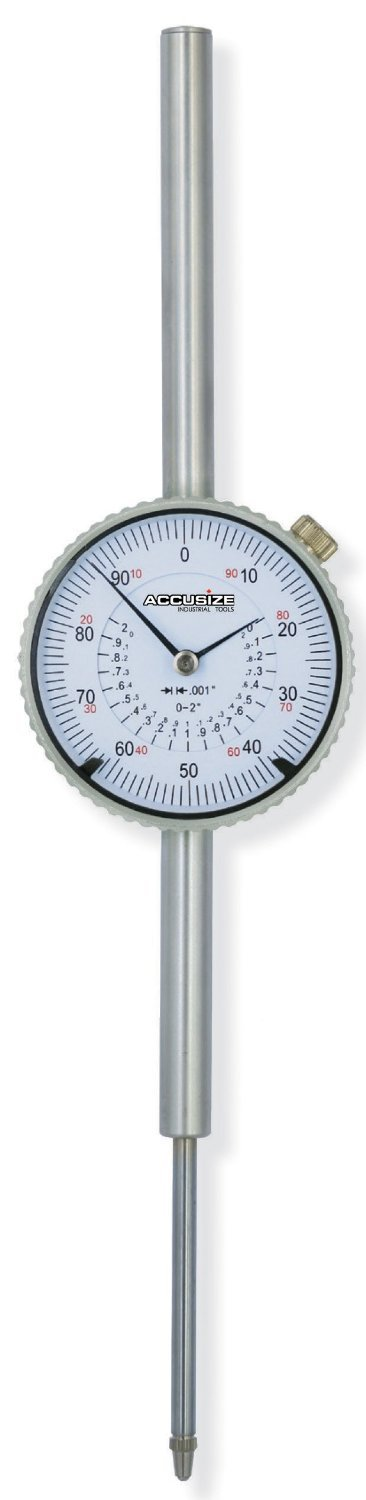 AGD2 Style with Lug Back Ltd. AccusizeTools P900-S112 Accusize Co 0-2 x 0.0005 Dial Indicator