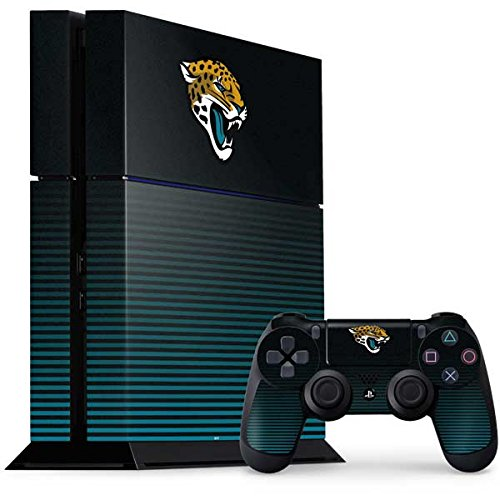 Skinit NFL Jacksonville Jaguars PS4 Console and Controller Bundle Skin - Jacksonville Jaguars Breakaway Design - Ultra Thin, Lightweight Vinyl Decal Protection