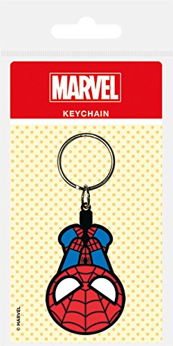 Marvel - Comics goma llavero de Kawaii hombre araña 6 cm Pirámide Internacional