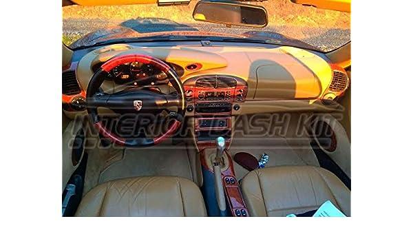 Porsche Boxster 996 Turbo interior Burl madera Dash trim Kit Set 1998 1999 2000 2001: Amazon.es: Coche y moto