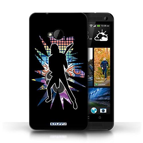 Etui / Coque pour HTC One/1 M7 / Solo Noir conception / Collection de Rock Star Pose