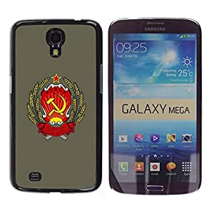 TECHCASE**Cubierta de la caja de protección la piel dura para el ** Samsung Galaxy Mega 6.3 I9200 SGH-i527 ** Soviet Russia Ussr Symbol Poster Sign Art
