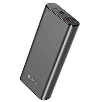 NOVOO Powerbank Carga Rápida PD 20000mAh 18W Batería Externa con 3 Puertos (1 USB C & 2 USB-A), con 1 Cable USB-C, Cargador Portátil para Moviles ...