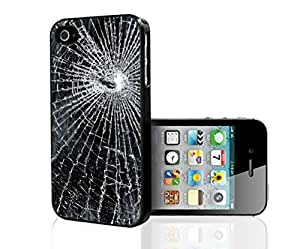 Shattered Glass Hard Snap on Phone Case (iPhone 4/4s)