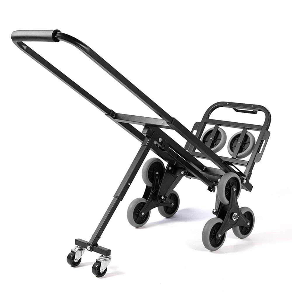 QNMM Multi Function Heavy Duty with 6 Wheels Stair Climbing Cart Portable Climbing Cart 300 lb Largest Capacity Hand Truck