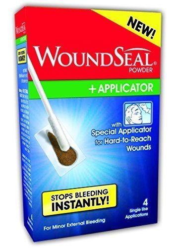 WoundSeal Powder and Applicator for Minor External Bleeding, 4 each (1 Pack)