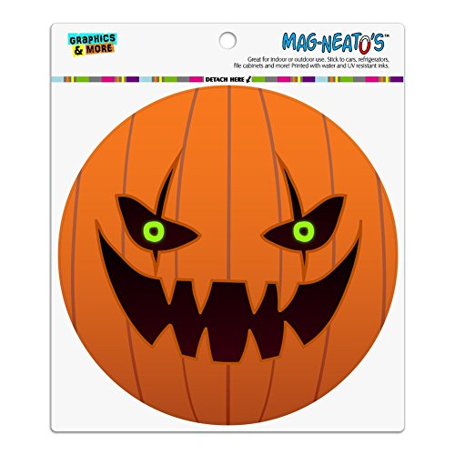 Jack-o'-lantern Pumpkin Face Halloween Decoration Automotive Car Refrigerator Locker Vinyl Circle Magnet