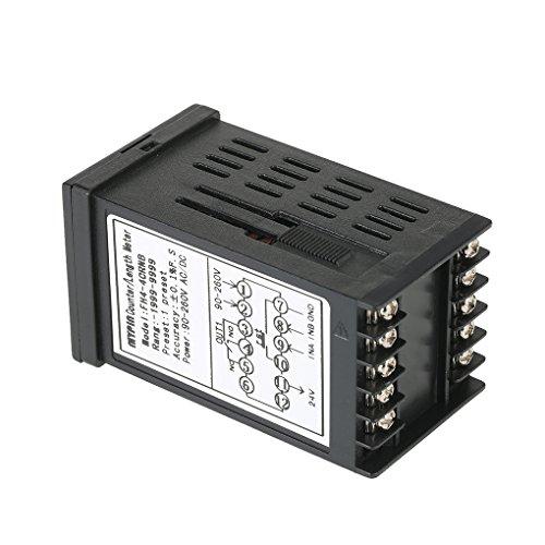 Topker Mypin multiuso preestablecido 4 Contador Digital Inteligente 90-265V AC / DC Longitud contador de longitud de salida de la máquina del metro relé PNP ...