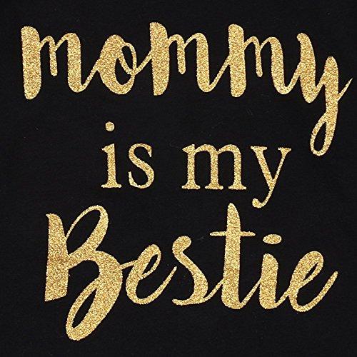 """Newborn Baby Girls Clothes Floral """"Mommy is My bestie"""" Bodysuit Romper +headband"""