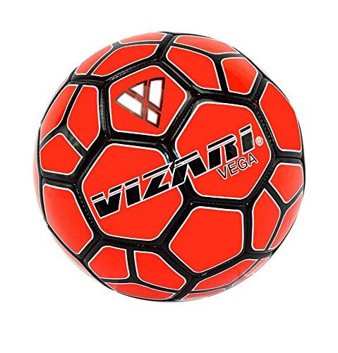 Soccer Adidas Red Ball (Vizari Vega Team Ball Size Red/Black, 5)