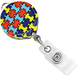 Autism Awareness Badge Reel with Belt Clip by Specialist ID, Sold Individually