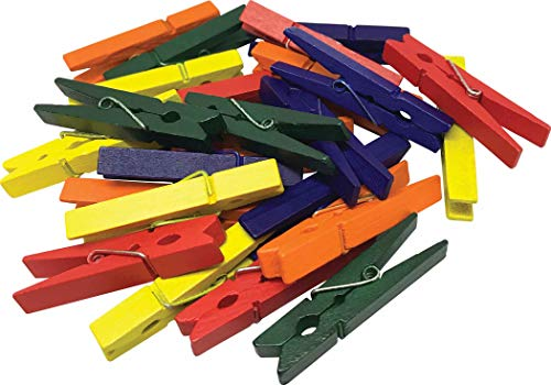 STEM Basics: Medium Multicolor Clothespins - 50 Count