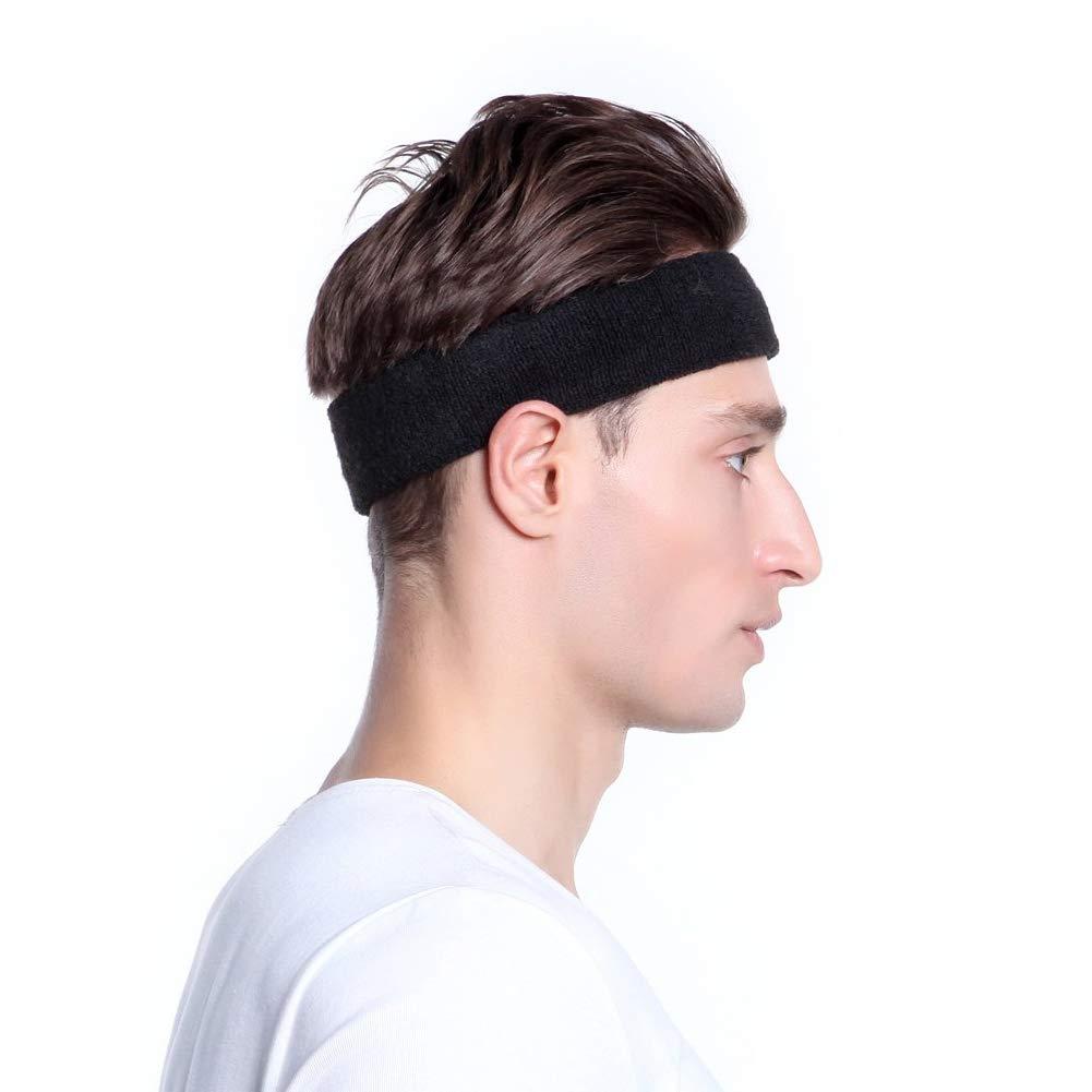 Reflektierende Männer Frauen Sport Stirnband Gym Atmungsaktiv Schweißband