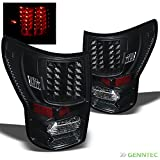 For 2007-2013 Toyota Tundra Pickup Truck Blk LED Tail Lights Brake Lamps Set Pair Left+Right/2008 2009 2010 2011 2012