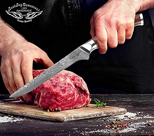 Best Quality Super Steel High Carbon Stainless Steel, Incredible G10 Handle, Full-tang, Razor Sharp Chef Blade Kitchen Carving fillet chefs knives Boning Chef knife 5.5 inch