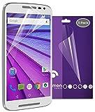 Motorola Moto G (3rd Gen, 2015) Screen Protector (3 Pack) - Fosmon Crystal Clear (HD) [Japan 3H Hard Coating Film] Screen Shield for Motorola Moto G (3rd Gen, 2015)