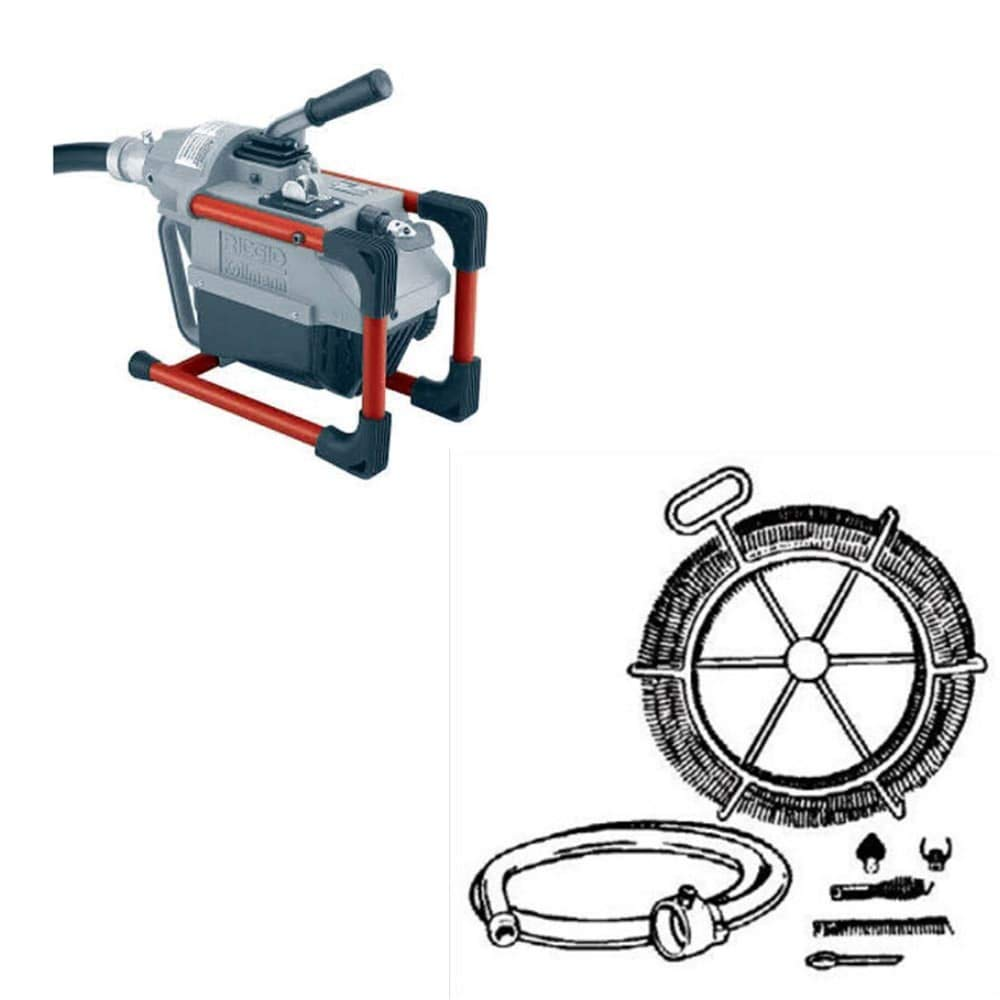 Ridgid 66492 K-60 Sectional Machine Drain Cleaner & Ridgid 48472 Kit A35 Cable