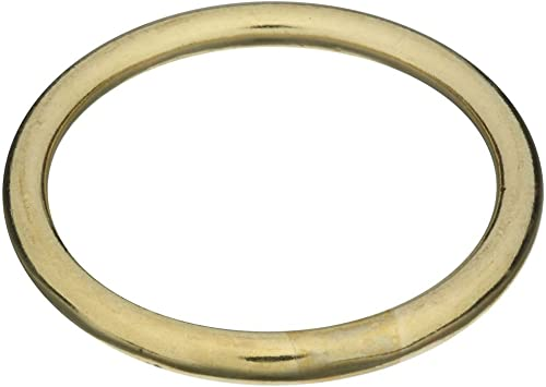 """BAg of 10 Pieces Stanley National Hardware 3156BC 1-1//2/"""" Ring in Solid Brass"""