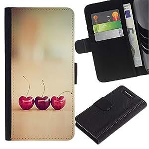 iBinBang / Flip Funda de Cuero Case Cover - Corazones Vignette minimalista - Sony Xperia Z1 Compact D5503