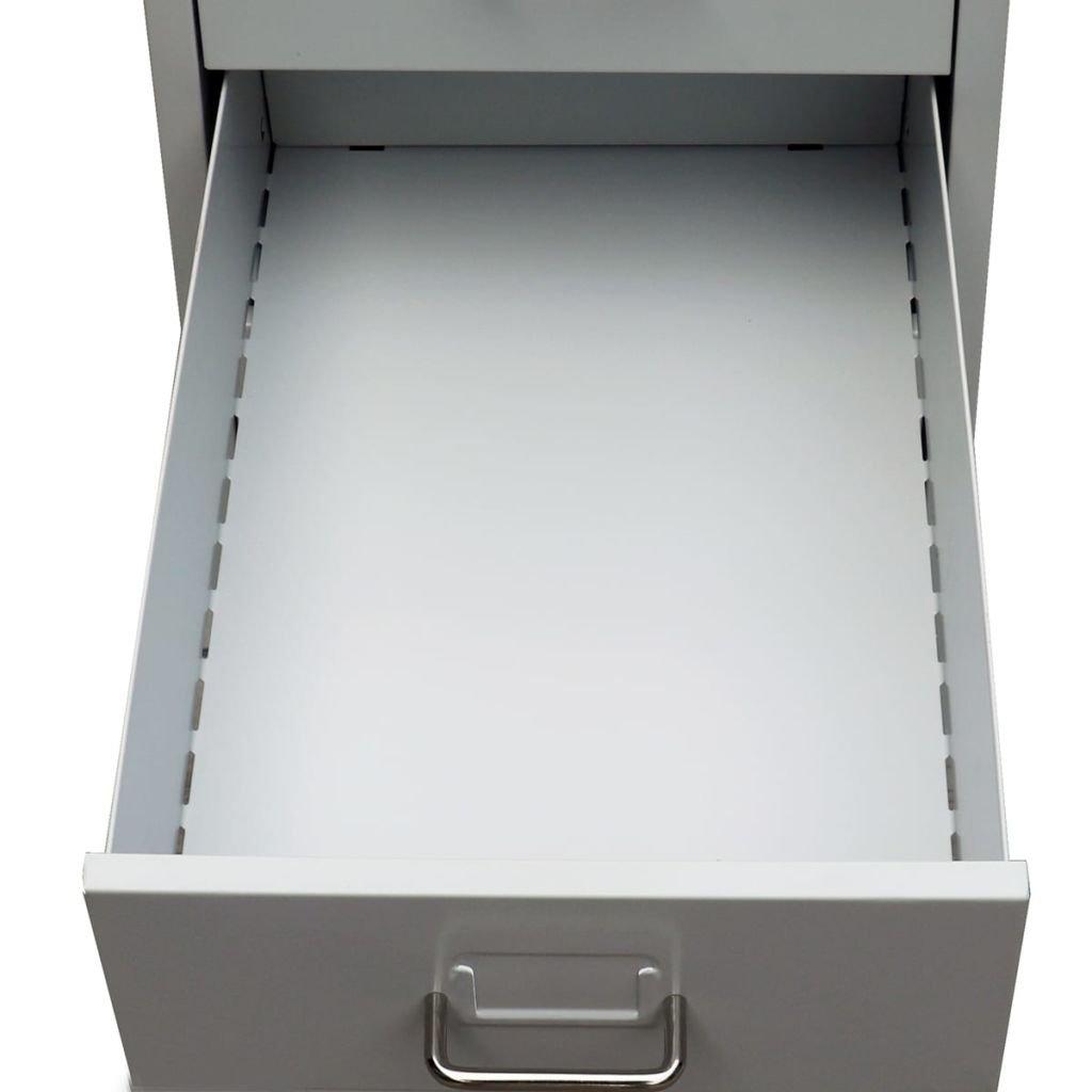 vidaXL Schedario con 5 Cassetti Metallo Grigio Archivio Classificatore Ufficio