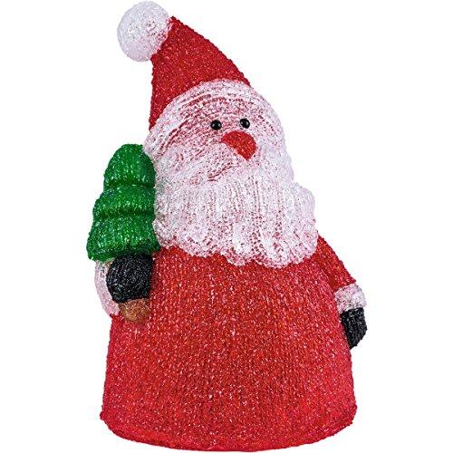 insatech LED Acryl SANTA Weihnachtsmann für Außen 41cm Höhe beleuchtet Nikolaus