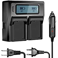 Neewer Dual Battery Charger Replacement for Olympus BLN-1, Compatible with Olympus Pen F, OM-D E-M1, OM-D E-M5, OM-D E-M5 Mark II, OM-D E-P5 Digital SLR Camera