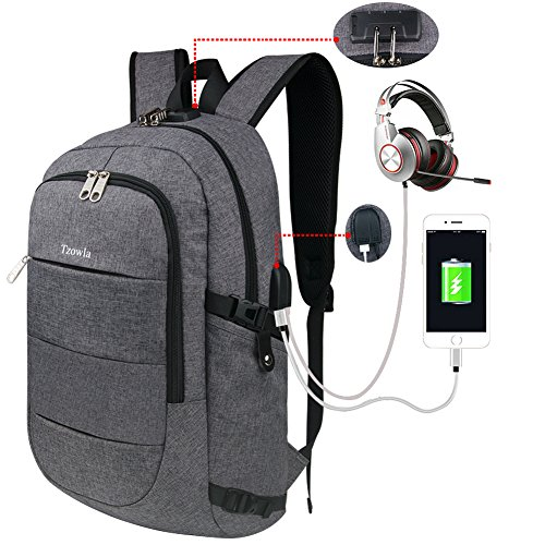 Tzowla Business Laptop Backpack, Water Resistant Anti-the...