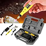 Electric Drill Grinder Tools Set, DIY Crafts Cutting Drilling Grinding Kit +Various Embossing/Carving/Soldering Tips +Stencil + Stand + Carrying Case (US Plug 100-240V)