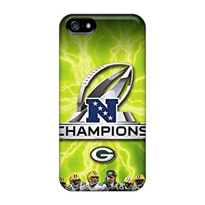 Great Hard Phone Covers For Iphone 5/5s (wOJ4258OahS) Support Personal Customs Realistic Green Bay Packers Pattern