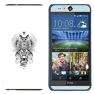 TECHCASE---Cubierta de la caja de protección para la piel dura ** HTC Desire Eye ( M910x ) ** --Búho del lobo Dreamcatcher