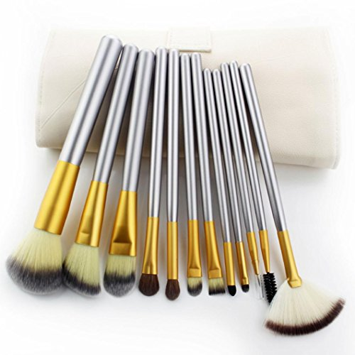tenworld-12pcs-cosmetic-tool-fondation-eyeshadow-makeup-brushes-set-with-make-up-bag-silver