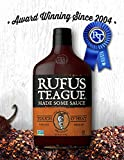 Rufus Teague- All Natural Kansas City BBQ Sauce- Touch O' Heat-16oz. Kinda Hot-Kinda Not. Great for Grilling and Smoking Your Favorite Meat. Proudly Made in America!