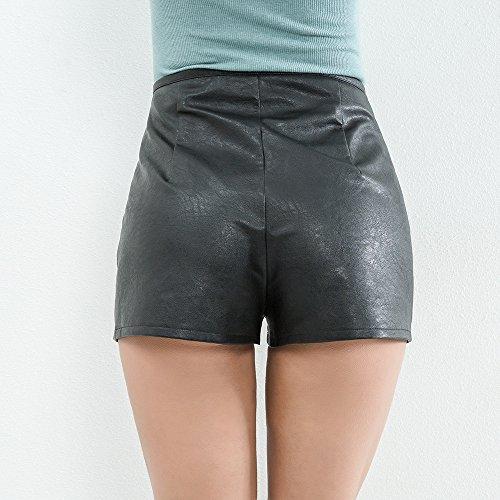 Di Glamorous Semplice Pantaloncini Colore Pantaloni Moda Fit Zip Donna Slim Estivi Nero Di Shorts Base E Corti Donne Casual Solido Elegante 4wxS4O7