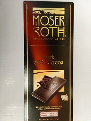 - Moser Roth German Dark Chocolate Bars (85%, pack of 2)
