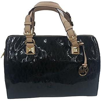 778acbb395cb43 This satchel MICHAEL Michael Kors Womens Grayson Mirror Metallic Satchel  Handbag Black Large ...