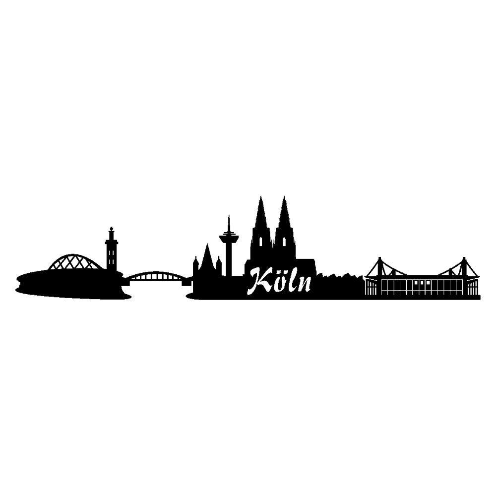 Schön Wandtattoo Köln Sammlung Von Aufkleber Köln Skyline Autoaufkleber 20cm Nr.5: Schwarz: