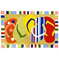Multi-Colored Sandals Flip Flops JellyBean Accent Rug